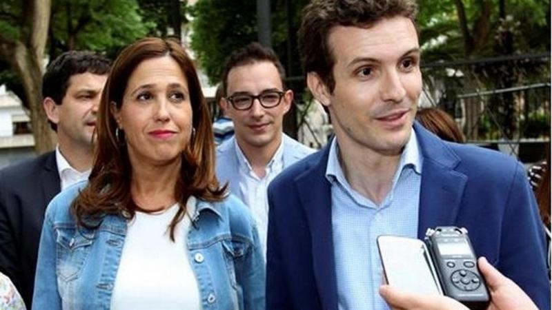 Rosa Romero junto al presidente del PP, Pablo Casado